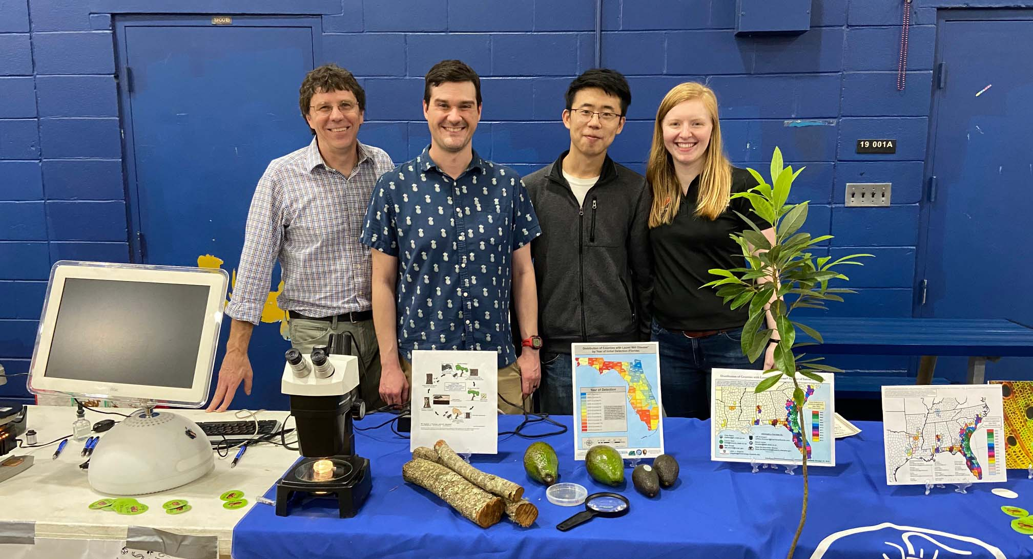Dr. Jeffery Rollins, Josh Konkol, Qiang Wang, and Jeannie Klein at the outreach event